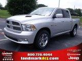 2010 Bright Silver Metallic Dodge Ram 1500 Sport Crew Cab #31204258