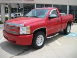 2008 Victory Red Chevrolet Silverado 1500 Work Truck Regular Cab 4x4 #31204526