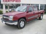 2003 Victory Red Chevrolet Silverado 1500 Z71 Extended Cab 4x4 #31204527