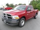 2010 Inferno Red Crystal Pearl Dodge Ram 1500 ST Quad Cab 4x4 #31204741
