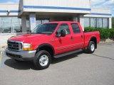 2000 Red Ford F250 Super Duty Lariat Crew Cab 4x4 #31256897