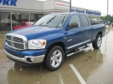2008 Electric Blue Pearl Dodge Ram 1500 Big Horn Edition Quad Cab #31256946