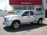2008 Bright Silver Metallic Dodge Ram 1500 Laramie Quad Cab 4x4 #31256489