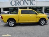 2009 Detonator Yellow Dodge Ram 1500 Big Horn Edition Crew Cab 4x4 #31256727