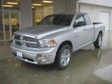 2010 Bright Silver Metallic Dodge Ram 1500 Lone Star Quad Cab #31256994