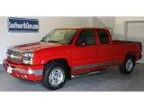 2005 Victory Red Chevrolet Silverado 1500 Z71 Extended Cab 4x4 #31332207