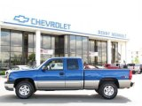 2003 Arrival Blue Metallic Chevrolet Silverado 1500 LS Extended Cab 4x4 #31332211