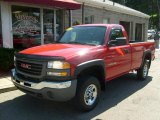 2006 Fire Red GMC Sierra 2500HD Work Truck Regular Cab 4x4 #31332011