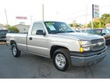 2004 Silver Birch Metallic Chevrolet Silverado 1500 Regular Cab #31332077
