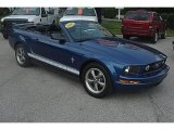 2006 Vista Blue Metallic Ford Mustang V6 Premium Convertible #31332265