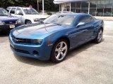 2010 Aqua Blue Metallic Chevrolet Camaro LS Coupe #31331624