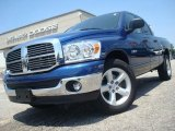 2008 Electric Blue Pearl Dodge Ram 1500 Big Horn Edition Quad Cab #31331686