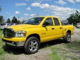 2008 Detonator Yellow Dodge Ram 1500 Big Horn Edition Quad Cab 4x4 #31332384