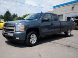 2010 Blue Granite Metallic Chevrolet Silverado 1500 LT Extended Cab 4x4 #31391853