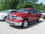 2010 Inferno Red Crystal Pearl Dodge Ram 1500 Big Horn Quad Cab 4x4 #31392141