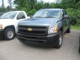 2010 Blue Granite Metallic Chevrolet Silverado 1500 Crew Cab #31392143