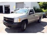 2008 Silver Birch Metallic Chevrolet Silverado 1500 Work Truck Regular Cab 4x4 #31392239
