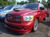 2006 Inferno Red Crystal Pearl Dodge Ram 1500 SRT-10 Quad Cab #31420075