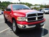 2003 Flame Red Dodge Ram 1500 SLT Quad Cab 4x4 #31426565