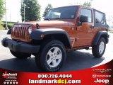 2010 Mango Tango Pearl Jeep Wrangler Sport 4x4 #31426144