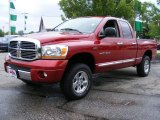 2006 Inferno Red Crystal Pearl Dodge Ram 1500 Laramie Quad Cab 4x4 #31426001