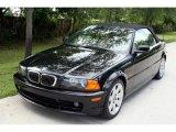 2001 Jet Black BMW 3 Series 325i Convertible #31426205