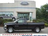 2005 Black Dodge Ram 1500 SLT Regular Cab 4x4 #31426063