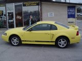 2002 Zinc Yellow Ford Mustang V6 Coupe #3143036