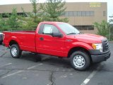 2010 Vermillion Red Ford F150 XL Regular Cab 4x4 #31478077
