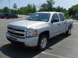 2010 Sheer Silver Metallic Chevrolet Silverado 1500 LT Crew Cab #31478554