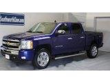 2010 Laser Blue Metallic Chevrolet Silverado 1500 LT Crew Cab 4x4 #31478464