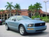 2005 Windveil Blue Metallic Ford Mustang V6 Deluxe Coupe #31478020