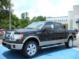 2010 Tuxedo Black Ford F150 Lariat SuperCrew 4x4 #31478036
