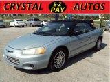2002 Sterling Blue Satin Glow Chrysler Sebring Limited Convertible #31536968