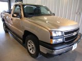 2006 Sandstone Metallic Chevrolet Silverado 1500 Work Truck Regular Cab 4x4 #31536852