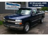 2002 Indigo Blue Metallic Chevrolet Silverado 1500 Work Truck Regular Cab 4x4 #31536627