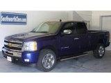 2010 Laser Blue Metallic Chevrolet Silverado 1500 LT Extended Cab 4x4 #31536883
