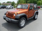 2010 Mango Tango Pearl Jeep Wrangler Sport 4x4 #31537027