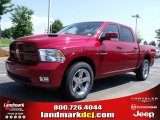 2010 Inferno Red Crystal Pearl Dodge Ram 1500 Sport Crew Cab #31585015