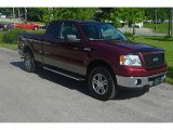 2006 Dark Toreador Red Metallic Ford F150 XLT SuperCab 4x4 #31585436