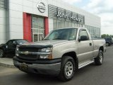2005 Silver Birch Metallic Chevrolet Silverado 1500 Regular Cab 4x4 #31585443