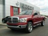 2008 Inferno Red Crystal Pearl Dodge Ram 1500 Big Horn Edition Quad Cab 4x4 #31585447