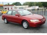 2002 Firepepper Red Pearl Honda Accord SE Sedan #31585291