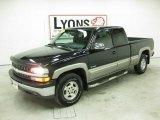 2002 Onyx Black Chevrolet Silverado 1500 LS Extended Cab 4x4 #31643540