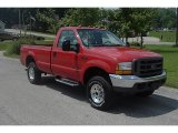 2000 Red Ford F250 Super Duty XL Regular Cab 4x4 #31644288