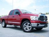2007 Inferno Red Crystal Pearl Dodge Ram 1500 Big Horn Edition Quad Cab #31643594