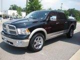 2010 Brilliant Black Crystal Pearl Dodge Ram 1500 Laramie Crew Cab 4x4 #31643885