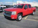 2008 Victory Red Chevrolet Silverado 1500 LT Crew Cab 4x4 #31712523