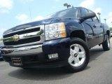 2008 Dark Blue Metallic Chevrolet Silverado 1500 LT Crew Cab #31712365