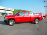 2010 Victory Red Chevrolet Silverado 1500 Extended Cab 4x4 #31712641